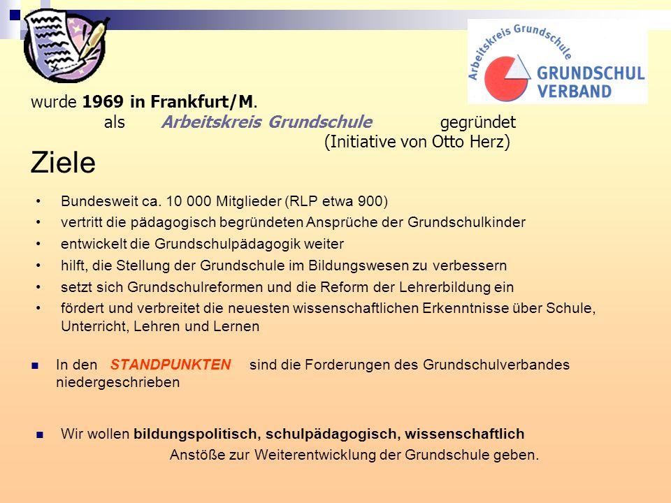 Ziele wurde 1969 in Frankfurt/M.