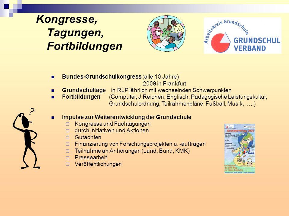Kongresse, Tagungen, Fortbildungen