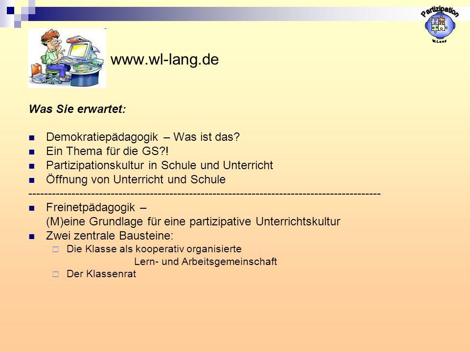 Partizipation www.wl-lang.de Was Sie erwartet: