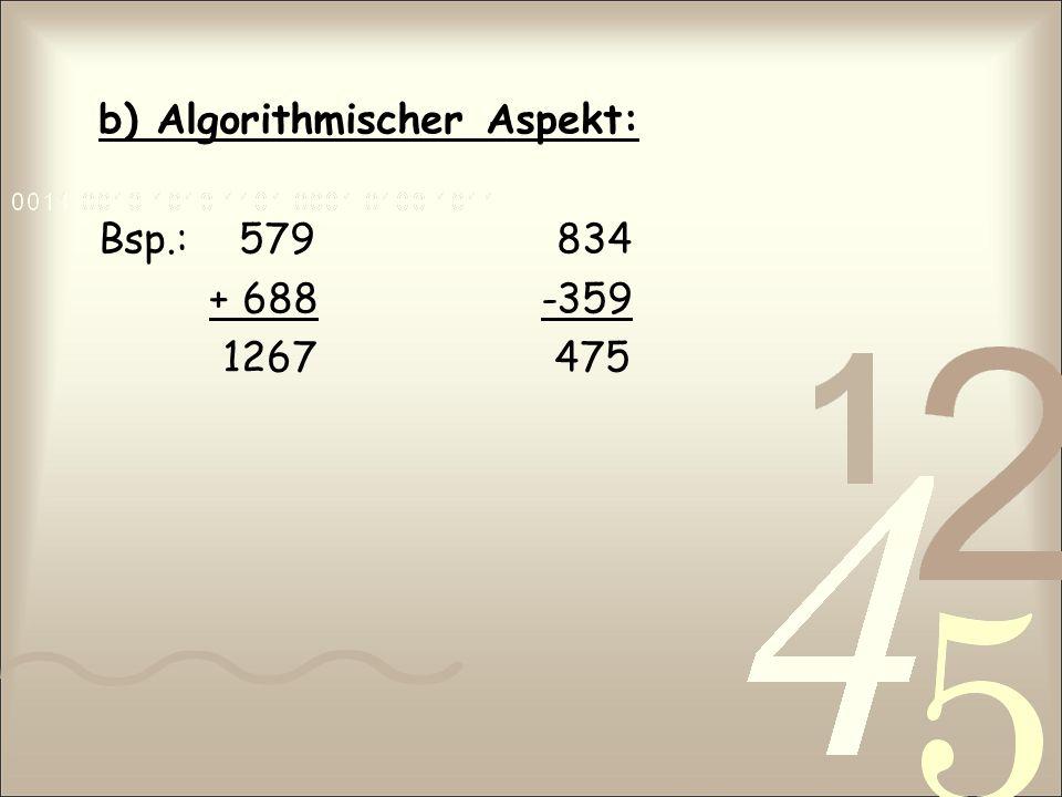 b) Algorithmischer Aspekt: