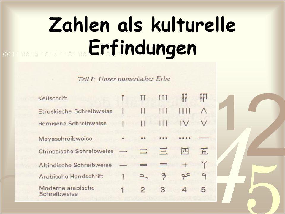 Zahlen als kulturelle Erfindungen