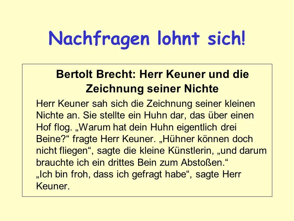 Bertolt Brecht: Herr Keuner und die Zeichnung seiner Nichte