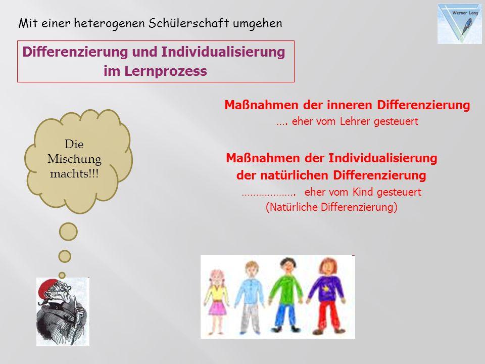 Differenzierung und Individualisierung im Lernprozess