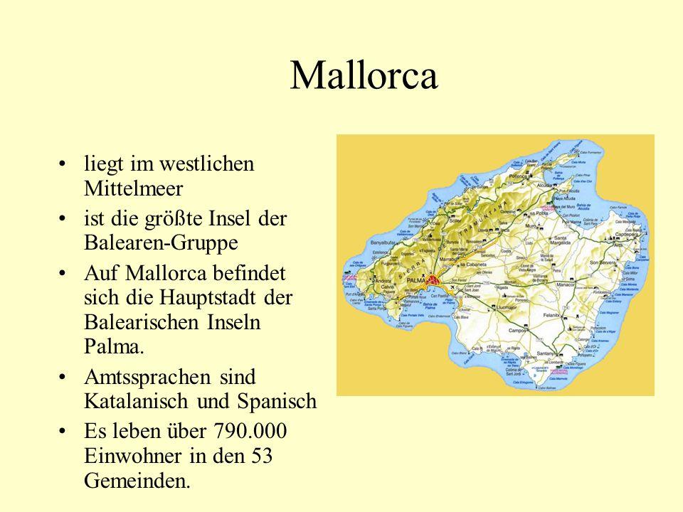Mallorca liegt im westlichen Mittelmeer