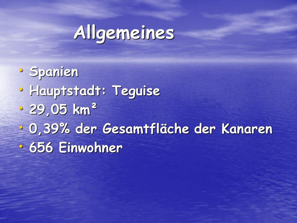 Allgemeines Spanien Hauptstadt: Teguise 29,05 km²