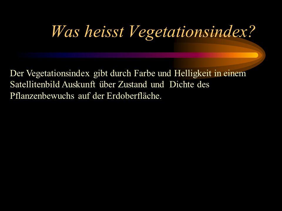 Was heisst Vegetationsindex