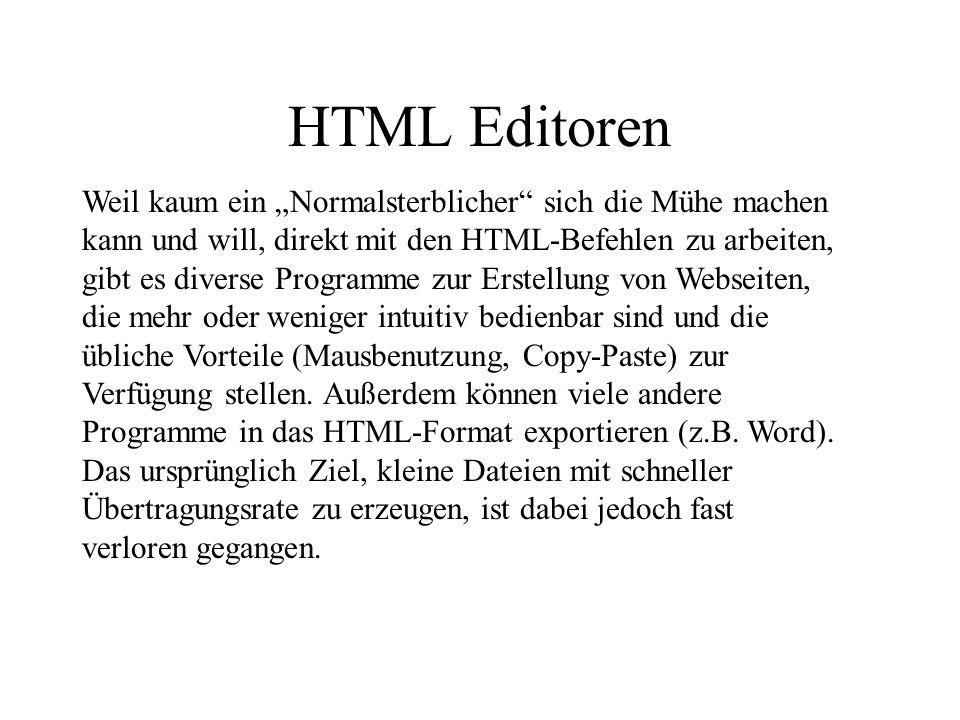 HTML Editoren