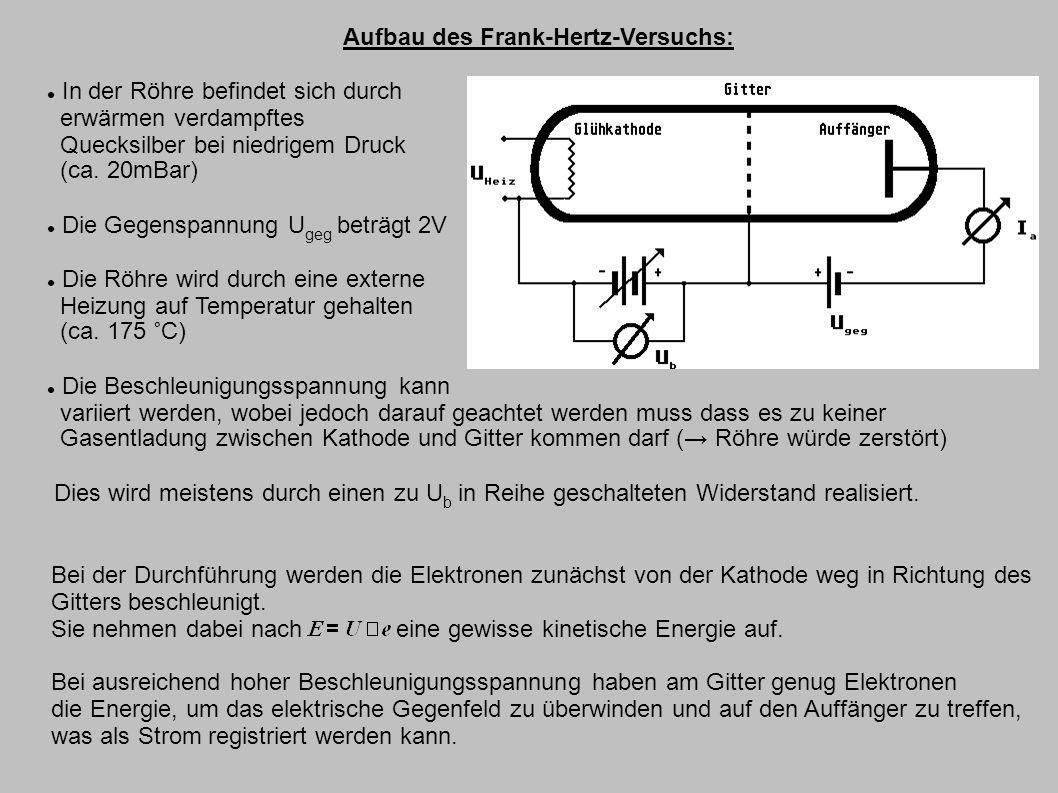Aufbau des Frank-Hertz-Versuchs: