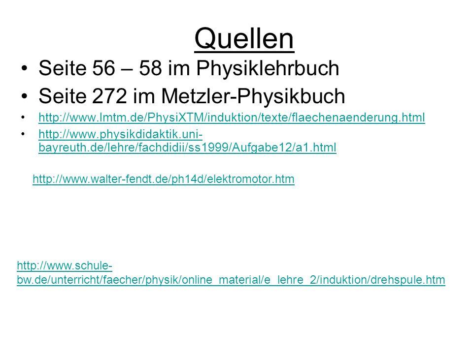 Quellen Seite 56 – 58 im Physiklehrbuch
