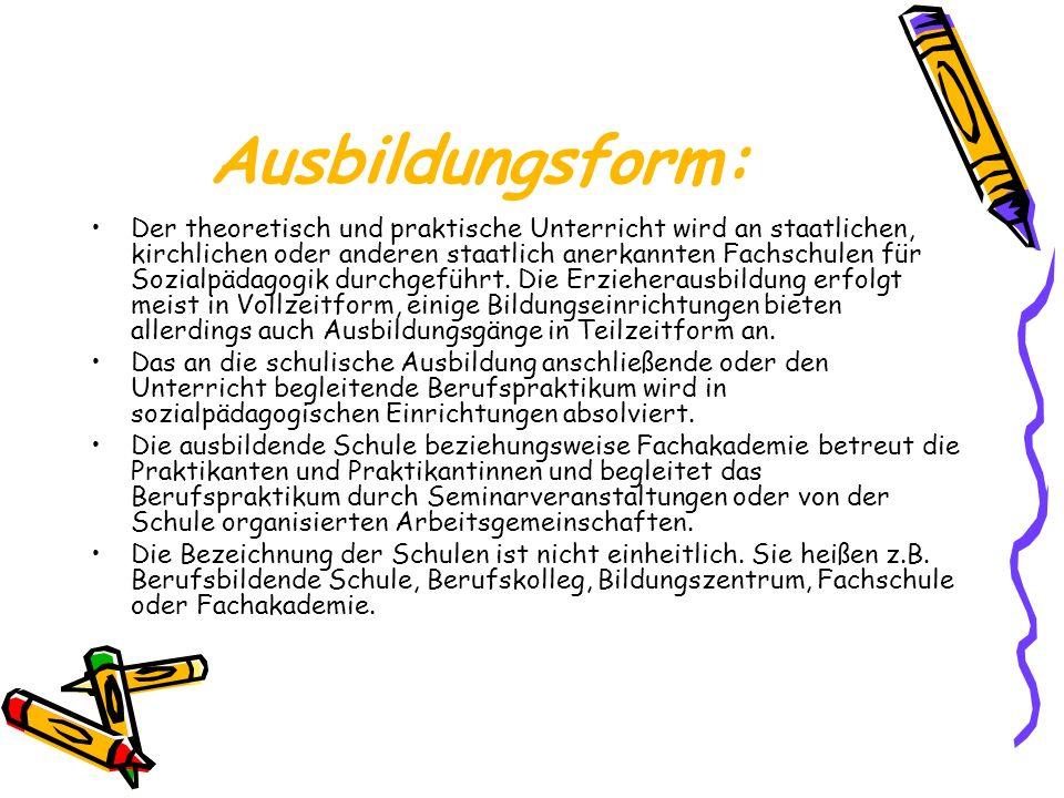 Ausbildungsform:
