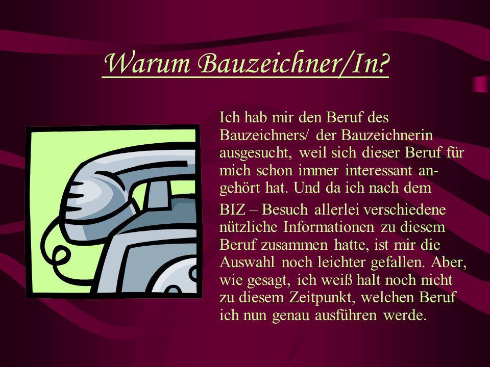 Warum Bauzeichner/In