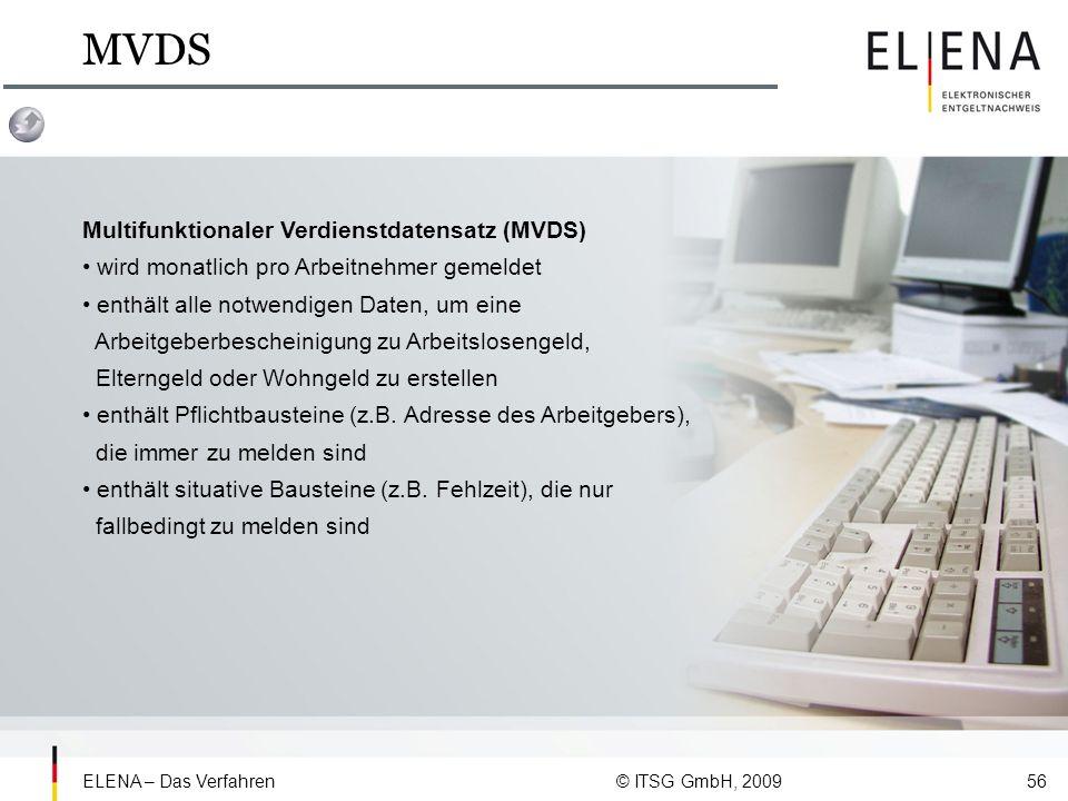 MVDS Multifunktionaler Verdienstdatensatz (MVDS)
