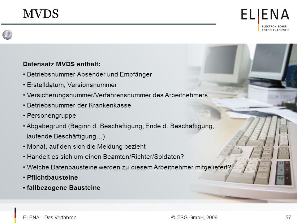 MVDS Datensatz MVDS enthält: • Betriebsnummer Absender und Empfänger