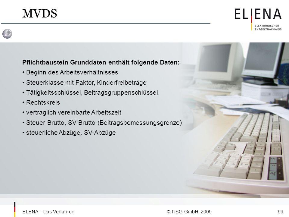 MVDS Pflichtbaustein Grunddaten enthält folgende Daten: