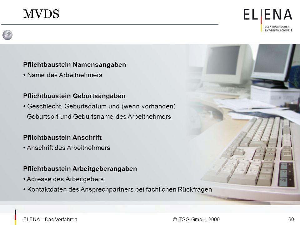 MVDS Pflichtbaustein Namensangaben • Name des Arbeitnehmers