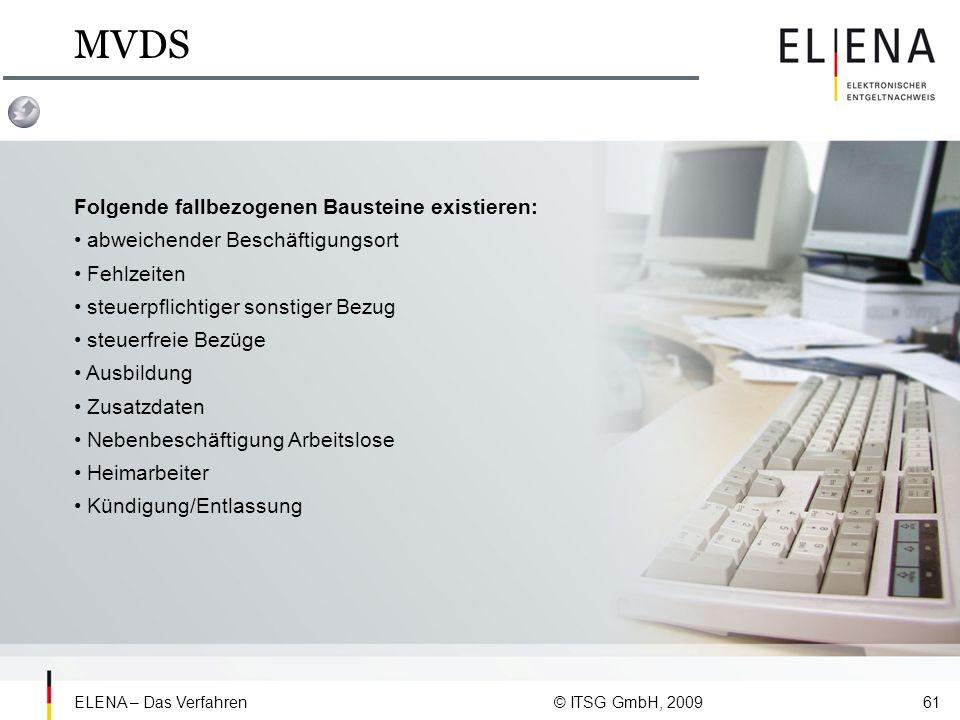 MVDS Folgende fallbezogenen Bausteine existieren: