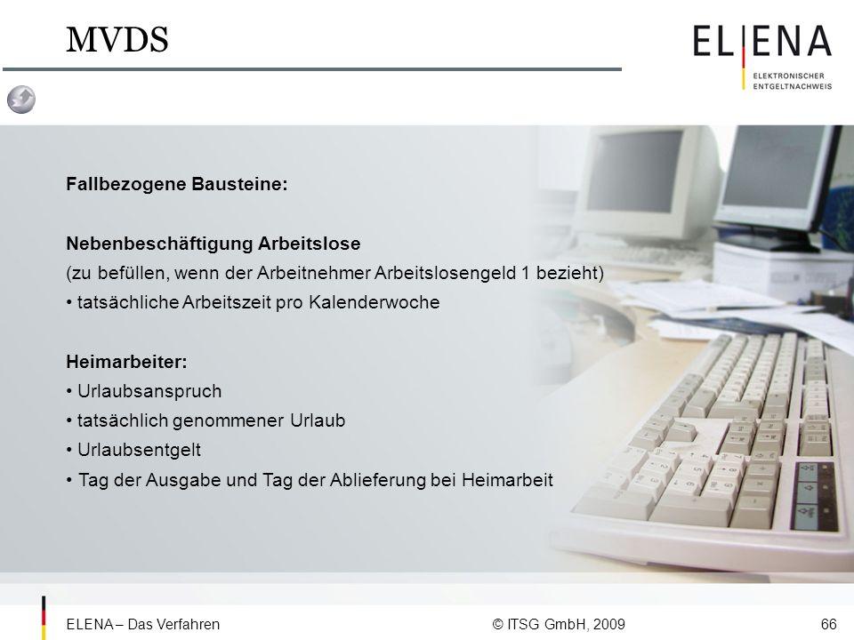 MVDS Fallbezogene Bausteine: Nebenbeschäftigung Arbeitslose