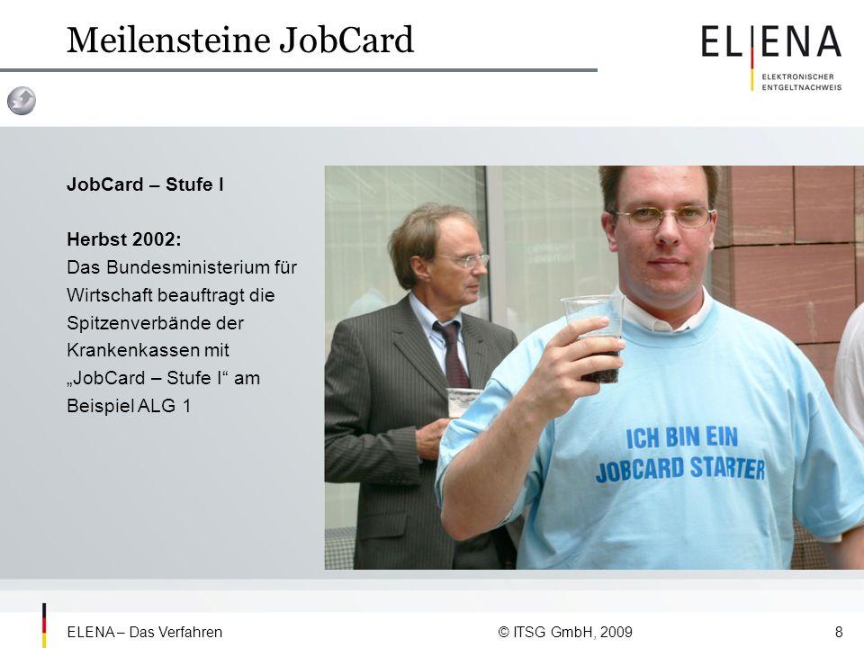Meilensteine JobCard JobCard – Stufe I Herbst 2002: