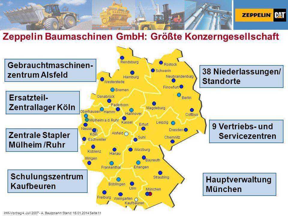 Zeppelin Baumaschinen GmbH: Größte Konzerngesellschaft