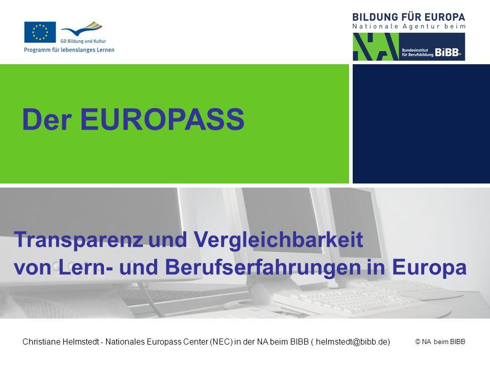 Der EUROPASS Transparenz und Vergleichbarkeit