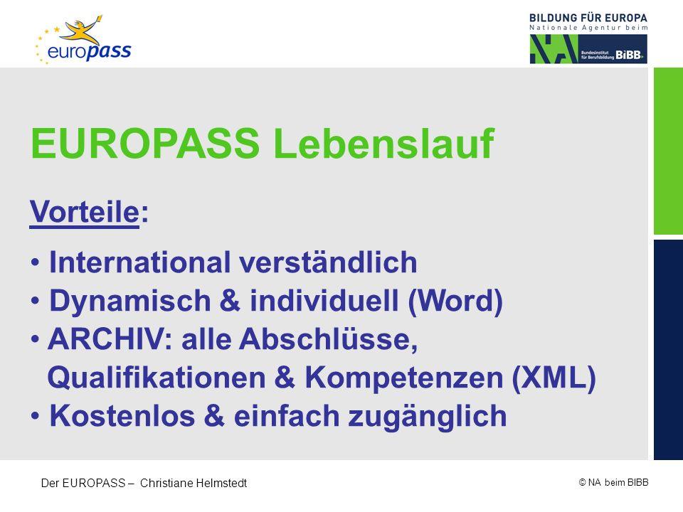 EUROPASS Lebenslauf Vorteile: International verständlich