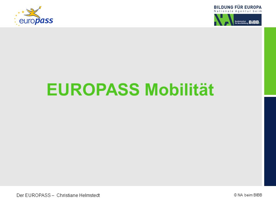 EUROPASS Mobilität
