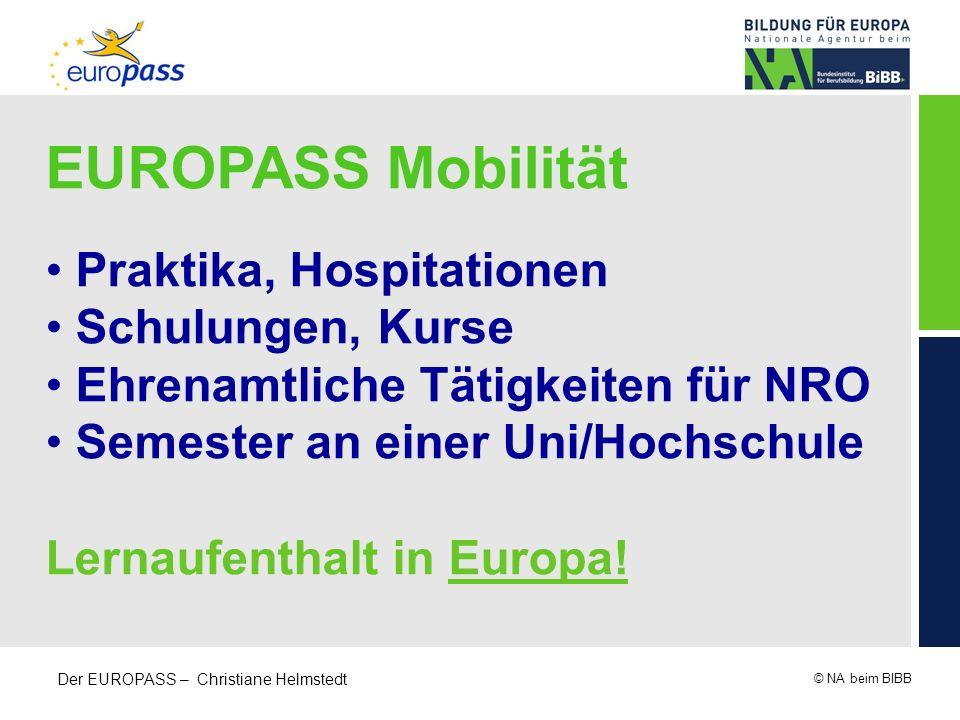 EUROPASS Mobilität Praktika, Hospitationen Schulungen, Kurse