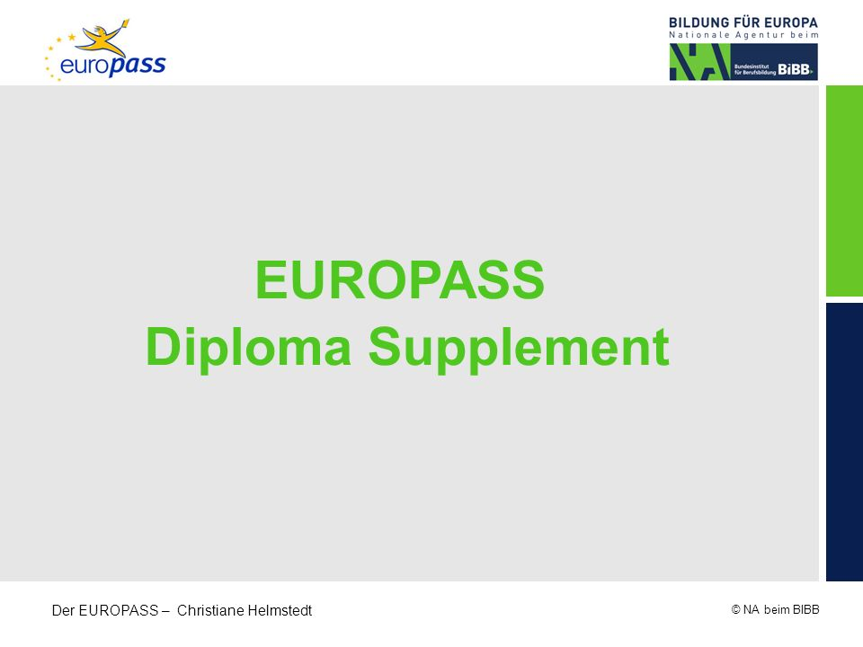 EUROPASS Diploma Supplement
