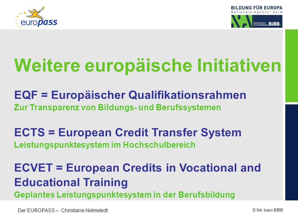 Weitere europäische Initiativen