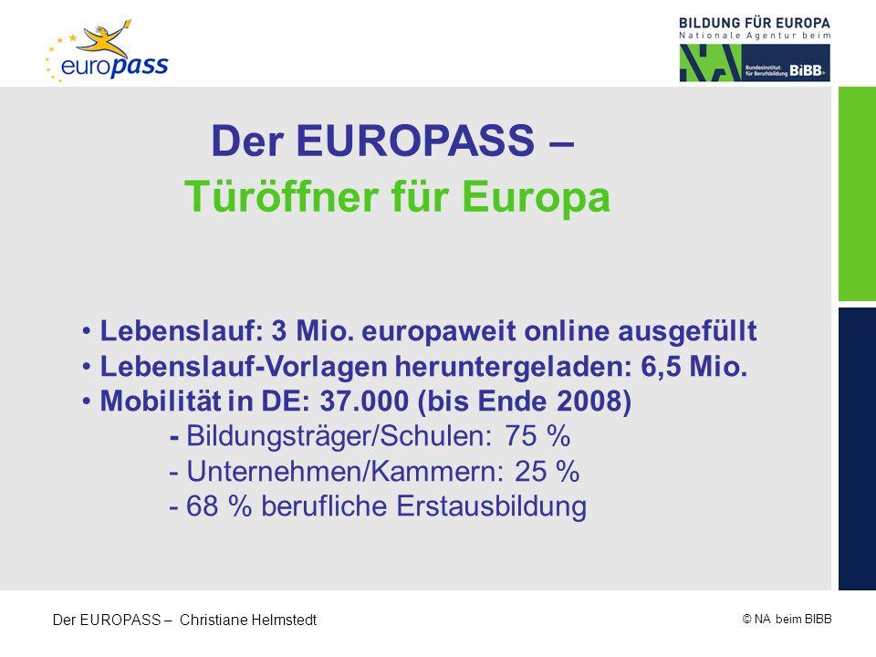 Der EUROPASS – Türöffner für Europa