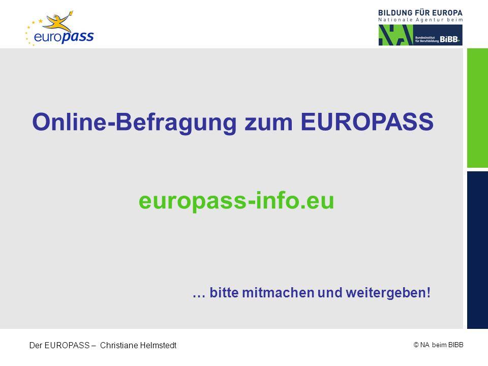 Online-Befragung zum EUROPASS … bitte mitmachen und weitergeben!