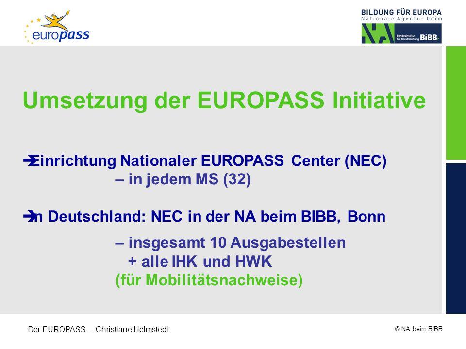 Umsetzung der EUROPASS Initiative