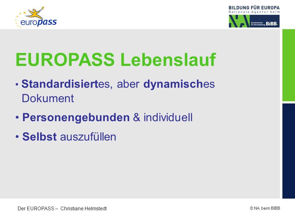 EUROPASS Lebenslauf Dokument Personengebunden & individuell