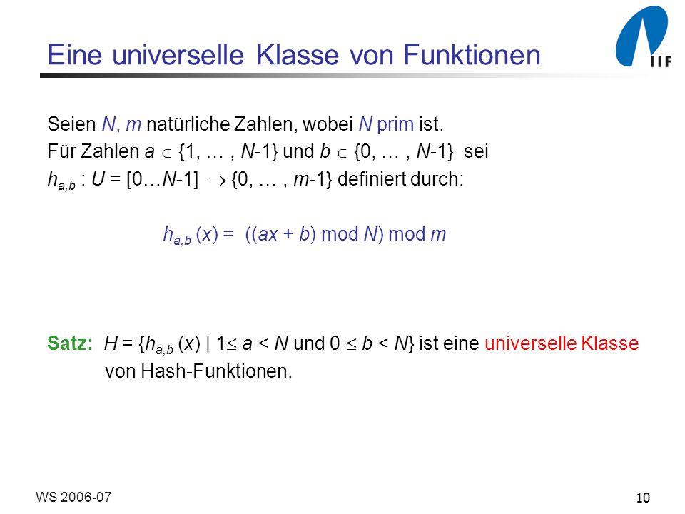 Eine universelle Klasse von Funktionen