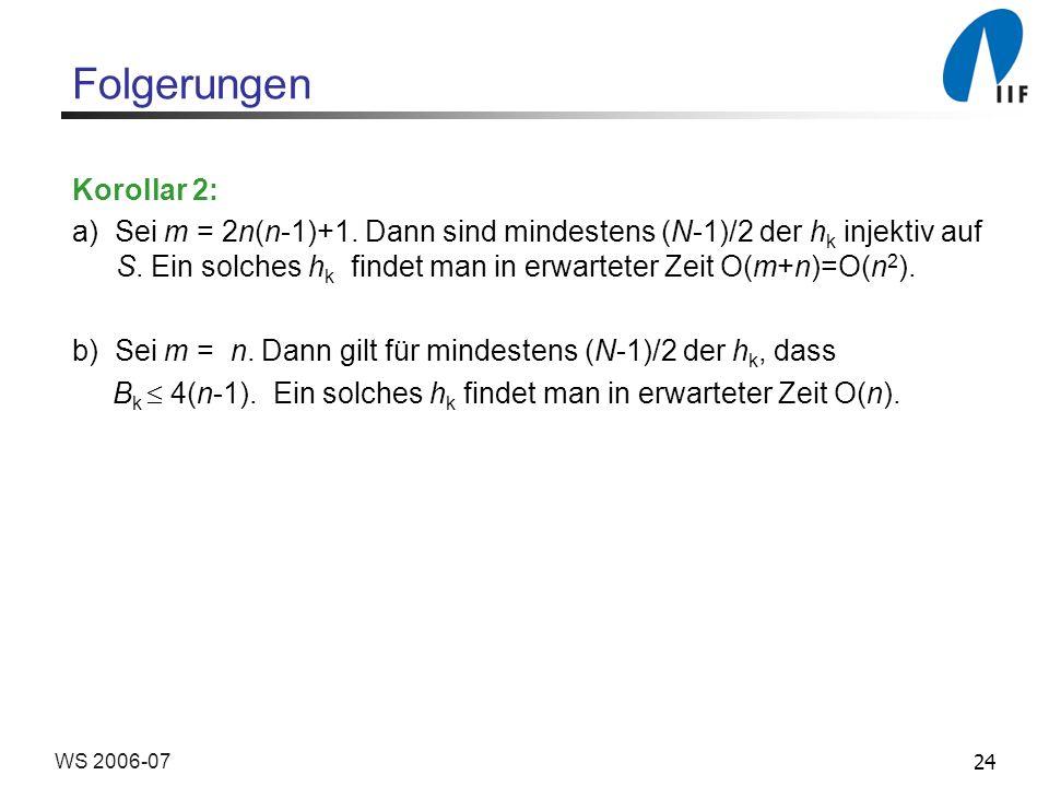Folgerungen Korollar 2: