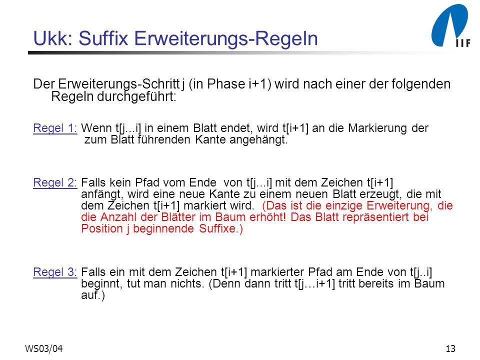 Ukk: Suffix Erweiterungs-Regeln