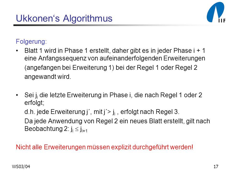 Ukkonen's Algorithmus