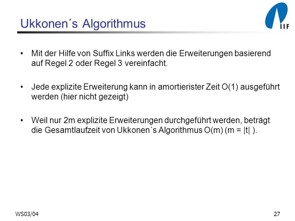 Ukkonen´s Algorithmus