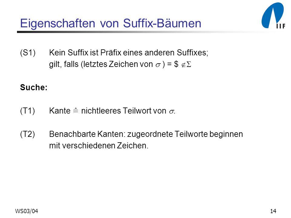 Eigenschaften von Suffix-Bäumen