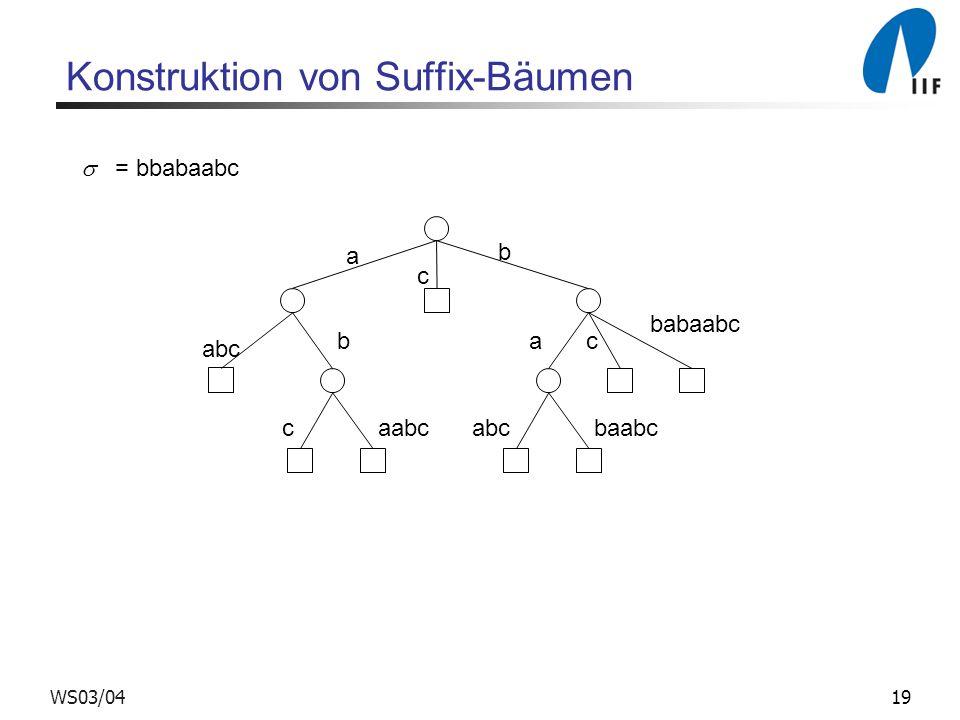 Konstruktion von Suffix-Bäumen