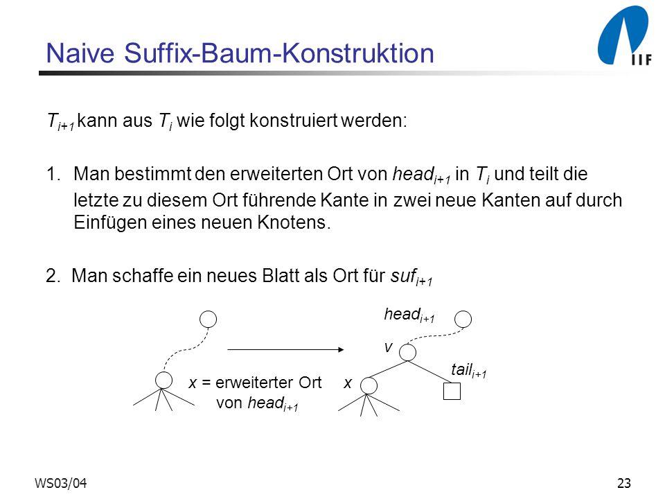 Naive Suffix-Baum-Konstruktion