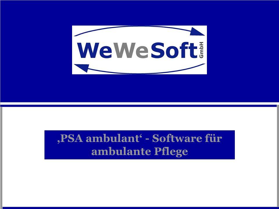 'PSA ambulant' - Software für ambulante Pflege