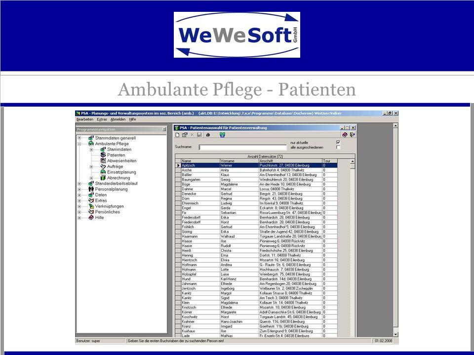 Ambulante Pflege - Patienten
