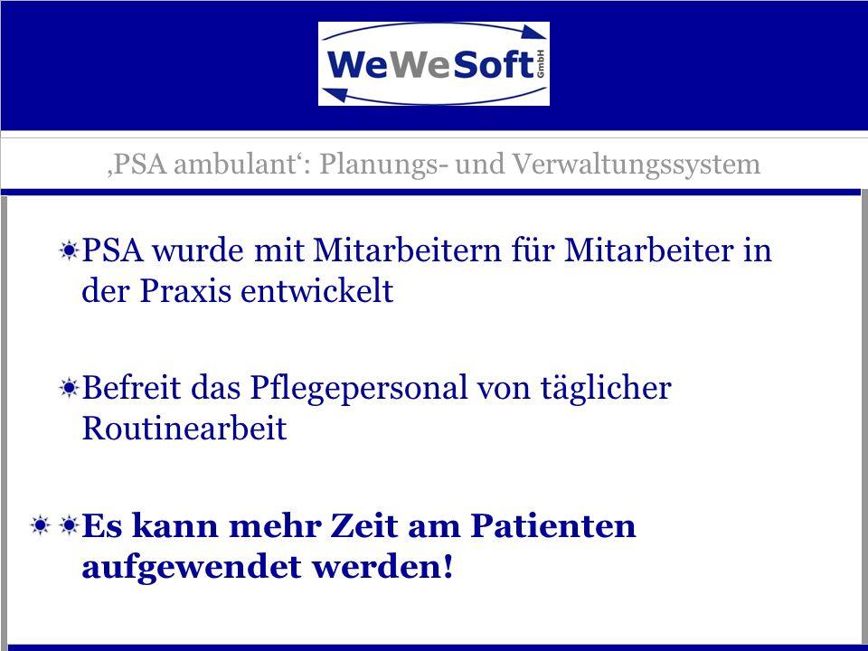 'PSA ambulant': Planungs- und Verwaltungssystem