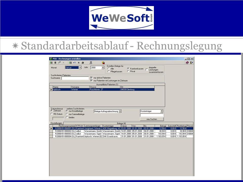 Standardarbeitsablauf - Rechnungslegung