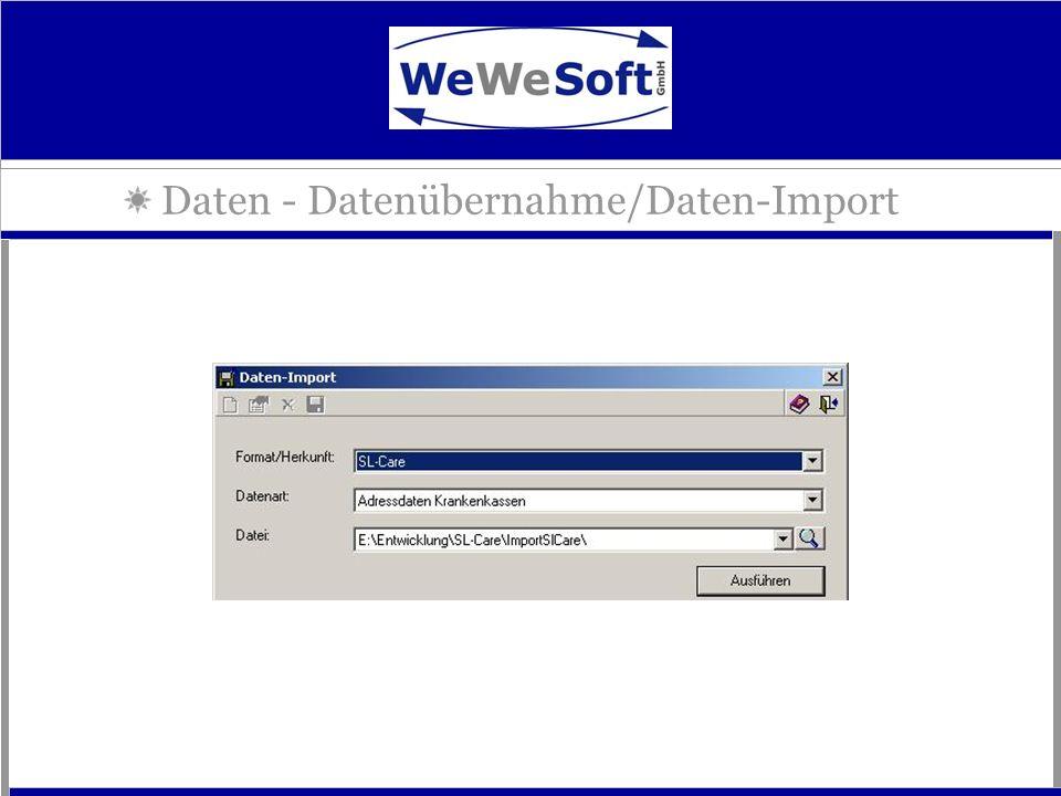 Daten - Datenübernahme/Daten-Import