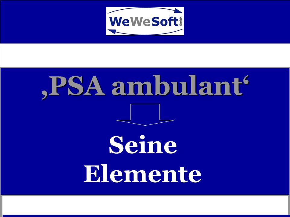 'PSA ambulant' Seine Elemente