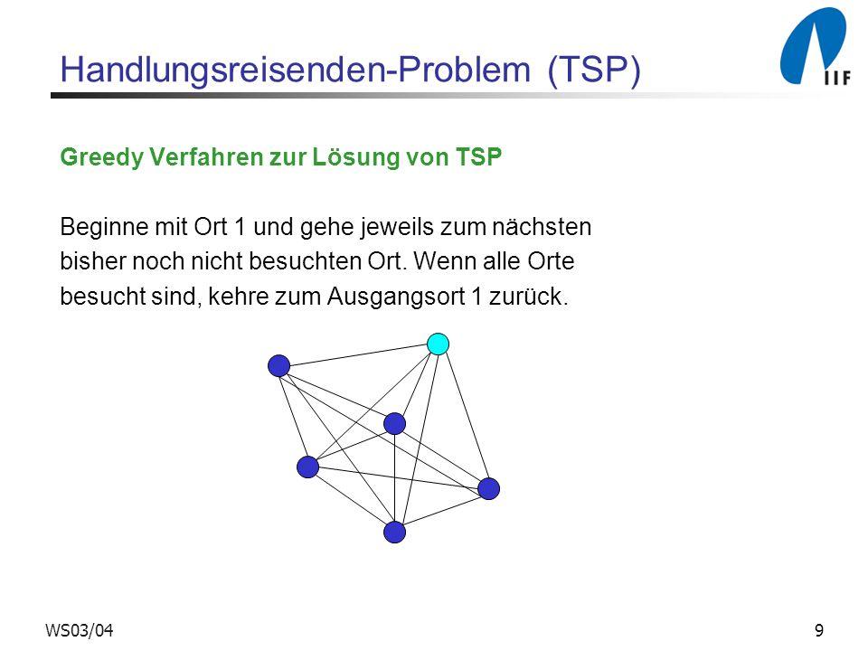Handlungsreisenden-Problem (TSP)