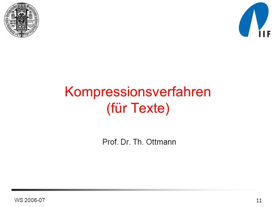 Kompressionsverfahren (für Texte)