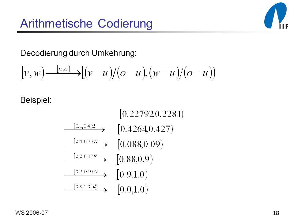 Arithmetische Codierung